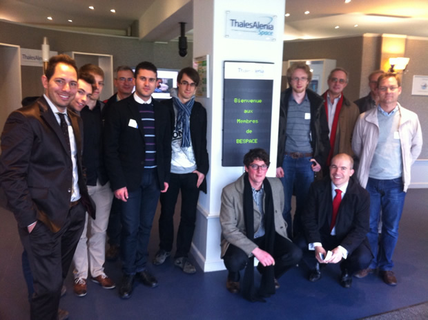 Group picture at Thales Alenia Space Belgium